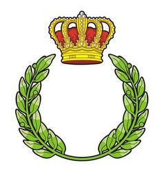 Olive branch and crown vector