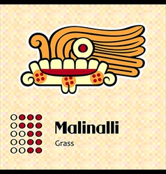 Aztec symbol malinalli vector