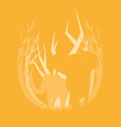 Deep in the forest elephant vector
