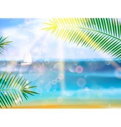 Seaside view poster vector