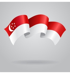 Singapore waving flag vector