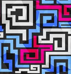 Bright spirals seamless pattern vector