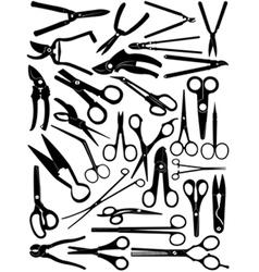 Different scissors set vector