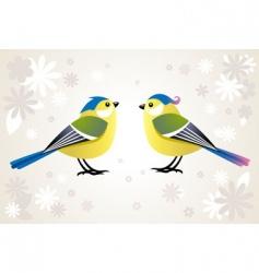 Cute stylized birds vector