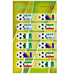Football tournament of brazil 2014 group f vector