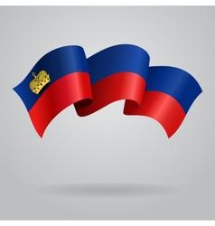 Liechtenstein waving flag vector