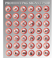 Prohibiting signs vector
