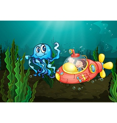 Exploring under the sea vector