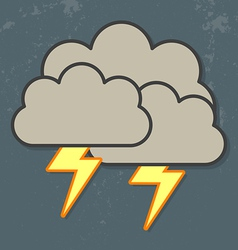 Thunder clouds vector