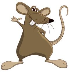 Cute cartoon mouse vector