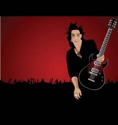Rock star dude vector