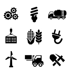 Set of energy and industry icons vector