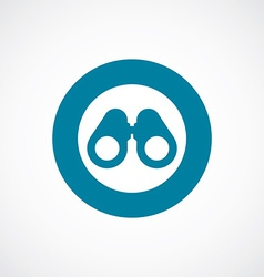 Binoculars icon bold blue circle border vector