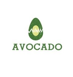 Icon avocado fruit food vector