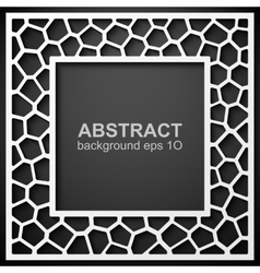 Abstract geometric frame background vector