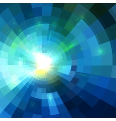 Abstract blue shining tunnel background vector