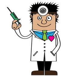 Doctor of love cartoon vector
