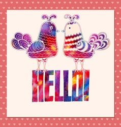 Card hello vector