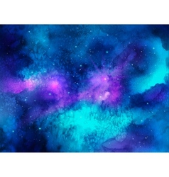 Outer space watercolor vector