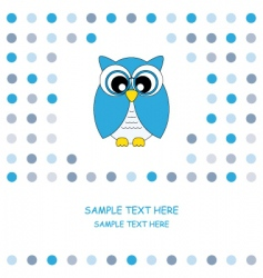 Owl blue vector