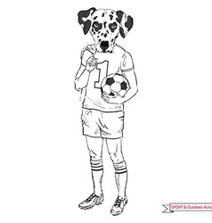 Dalmatian football player sport and outdoor vector