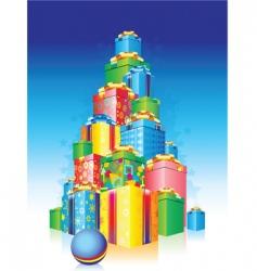 Holiday presents vector