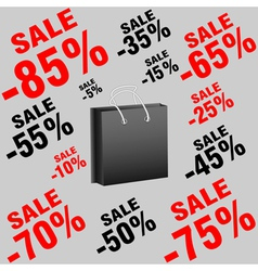 Banner package with sales vector