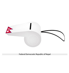 A whistle of federal democratic republic of nepal vector