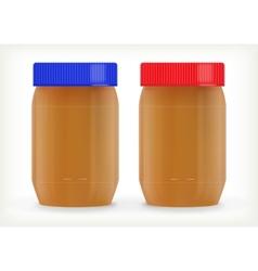Jars of peanut butter vector