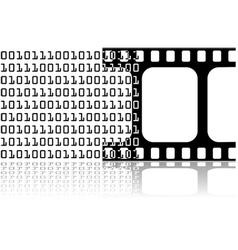 Digital movie vector