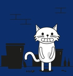 Cat in street vector