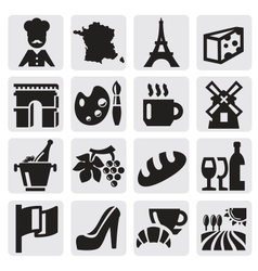 French culture vector
