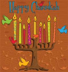 Chanukah menorah vector