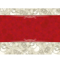 Background with christmas elements and label for m vector