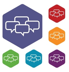 Big dialog rhombus icons vector