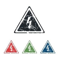 High voltage grunge icon set vector