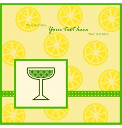 Card with lemon slices pattern vector
