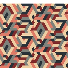 Abstract seamless geometric pattern vintage colors vector
