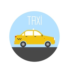 Graphic taxi car flat design vector