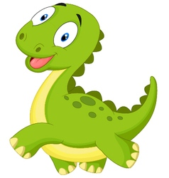 Happy cartoon dinosaur vector