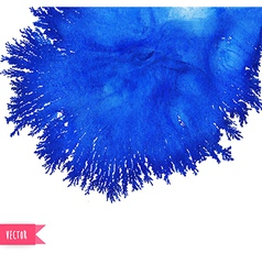 Watercolor stain like coral abstract blue vector