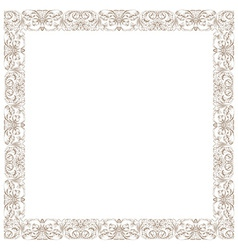 Vintage decorative framework isolated in white vector