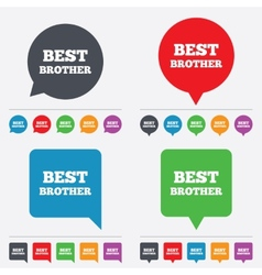 Best brother sign icon award symbol vector
