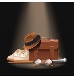Gentleman accessories set vector