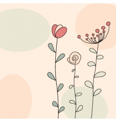Floral greeting vector