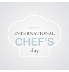 Chef day vector