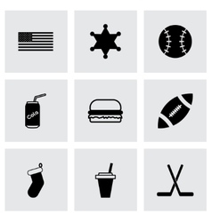 Usa icon set vector