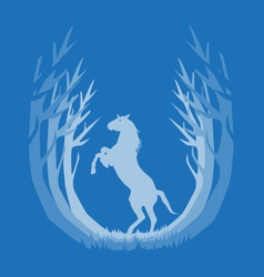 Deep in the forest horse vector