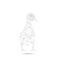 Origami duck isolated vector