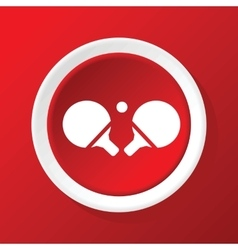 Ping-pong rackets icon on red vector